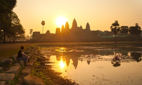 At its peak in the 12th and 13th centuries, the Khmer capital of Angkor sprawled over 1,000 square kilometres. Photograph: Robert Harding World Imagery/Getty Images