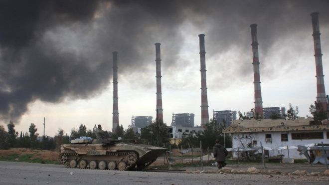 Government forces recently retook a power plant in Aleppo province from Islamic State militants.