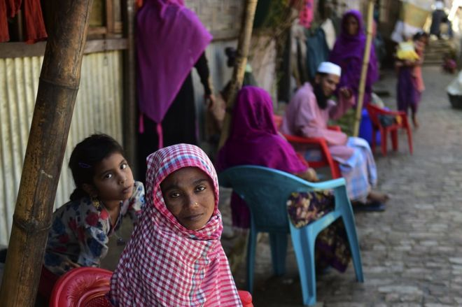 Amnesty estimates at least 27,000 Rohingya have fled to neighbouring Bangladesh. AFP/GETTY IMAGES