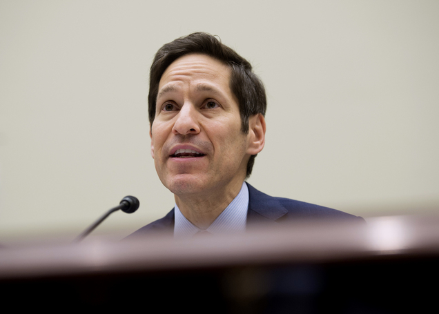 "In this Aug. 7, 2014, photo, Centers for Disease Control and Prevention (CDC) Director Dr. Tom Frieden testifies on Capitol Hill in Washington. Ebola is a ""painful, dreadful, merciless virus,"" the United States' top disease fighter says. The outbreak in West Africa has been declared an international health emergency, already killing more than 900 people and spreading. That's scary, and it's serious. But it needs context. (AP Photo/Molly Riley)"