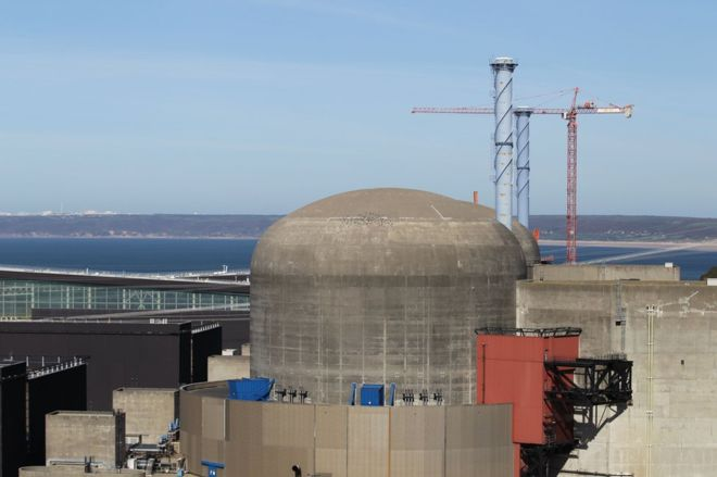 The two reactors at Flamanville will eventually be joined by a third.