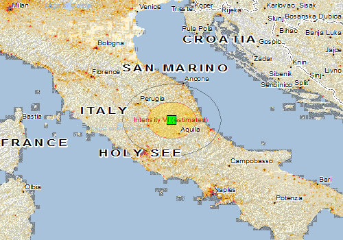 Earthquake Italy August Global - Italy earthquake map
