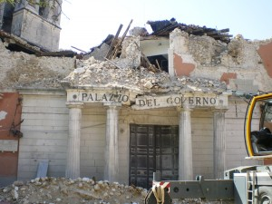 Aftereffects of the L'Aquila earthquake