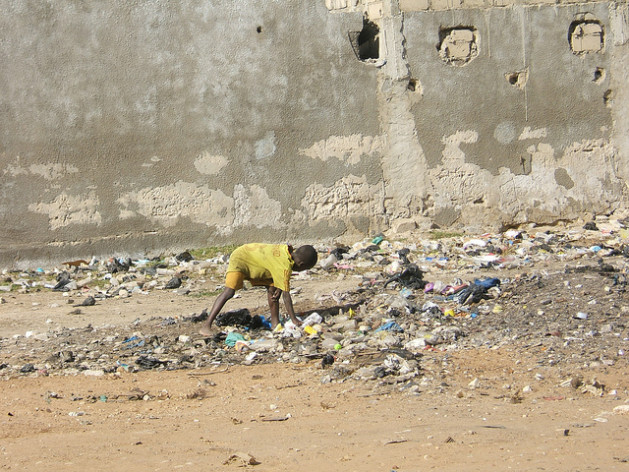 A child at a lead-contaminated site. Credit: Blacksmith Institute